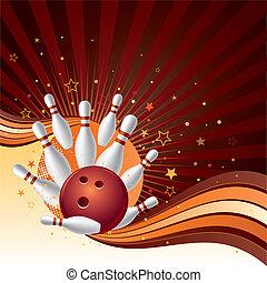 grève, fond, bowling