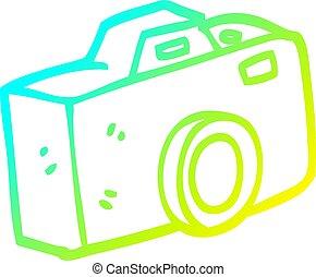 gradient, dessin animé, appareil photo, froid, dessin, ligne