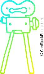 gradient, dessin animé, appareil photo, froid, dessin, ligne, pellicule