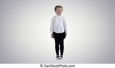 gradient, enfant, heureux, rire, girl, arrière-plan.