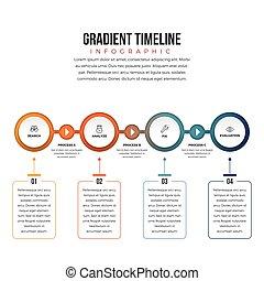 gradient, timeline, infographic