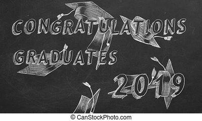 graduates., félicitations, 2019.