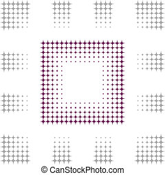 graduel, cadre, carrée
