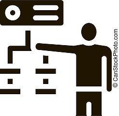 graduel, vecteur, algorithm, illustration, icône, glyph