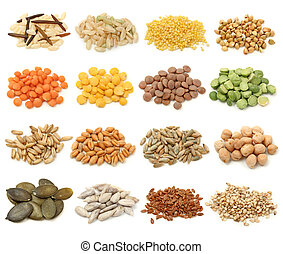 grain, céréale, graines, collection