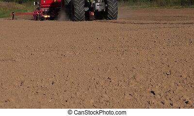 grain, récolte, tracteur, ensemencer, champ