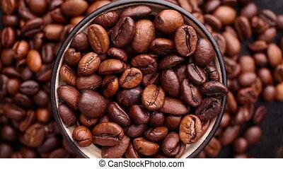 grains café, perfectly, tourner