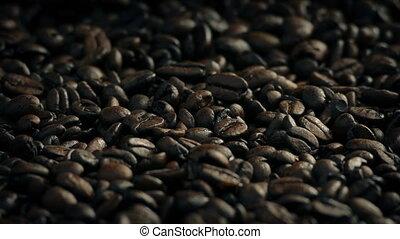 grains café, rôti