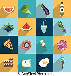 graisse, collection, régime, nourriture.