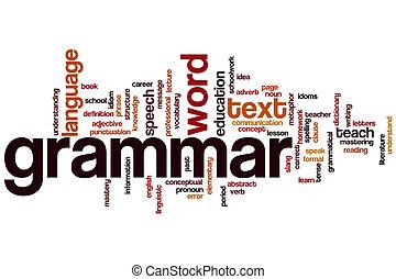 grammaire, mot, nuage