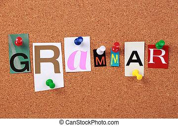 grammaire, word unique