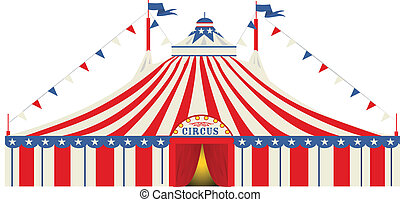 grand, américain, cirque, sommet