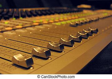 grand, audio, -, mélangeur