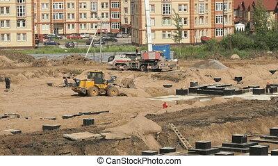 grand, bâtiments, construction, complexe