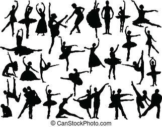grand, ballet, vecteur, -, collection