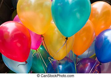 grand, balloon, coloré, barbouillage