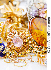 grand, bijoux, or, collection
