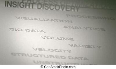 grand, concept, données, animation