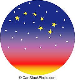 grand dipper, constellation, étoile