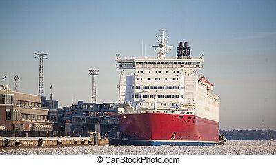 grand, docks, bateau