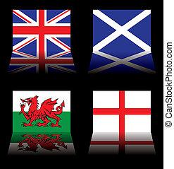 grand, drapeaux, grande-bretagne