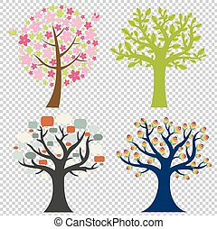grand, ensemble, arbre