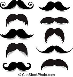 grand, ensemble, moustache