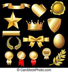 grand, ensemble, or, éléments