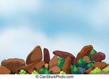 grand, formation, rocher
