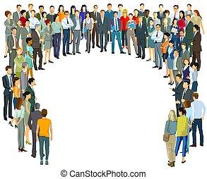 grand, gens, communauté, groupe