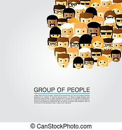 grand groupe, gens