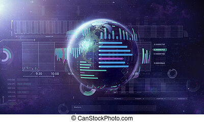 grand, illustration, world., données, sujet
