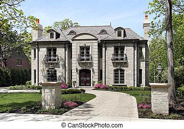 grand, maison, luxe