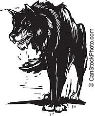 grand, mauvais, loup