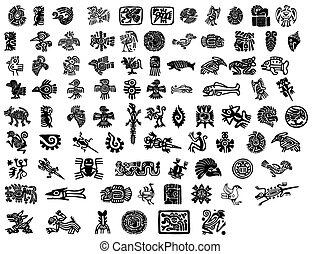 grand, mexicain, motifs, meute