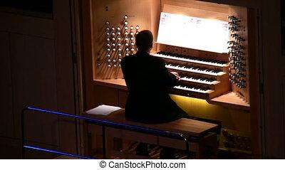 grand, musique, orgue