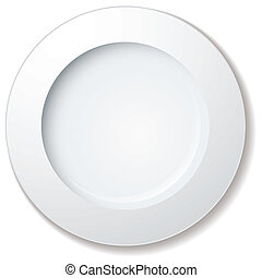 grand, plaque, dîner, bord
