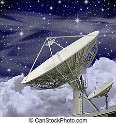 grand, plat, satellite