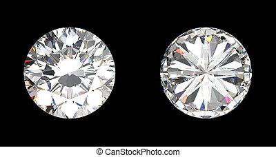 grand, sommet, diamant, vue, fond