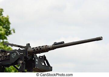 grande machine, monté, fusil