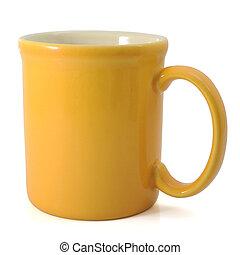 grande tasse, jaune