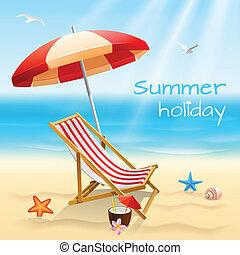 grandes vacances, fond, affiche