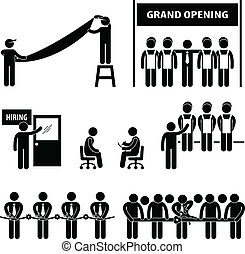 grandiose, business, ouverture