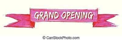 grandiose, ruban, ouverture