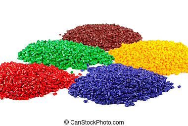 granules, coloré, plastique