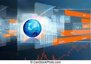 graphique, économe, marché, stockage