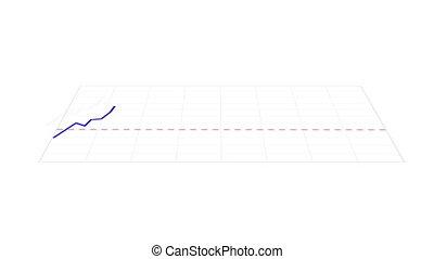 graphique, animé, marché, stockage