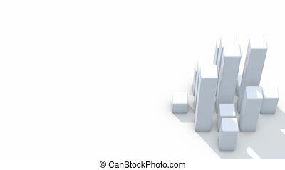 graphique barre, boucle, blocs, blanc, hd