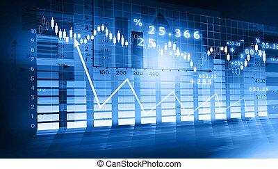 graphique, bourse