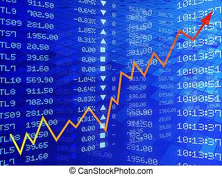 graphique, bourse, illustration, numérique